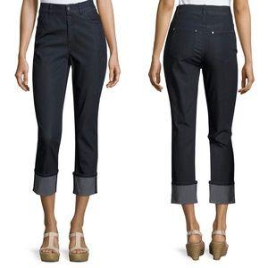 Lafayette 148 Dahlia Cropped Cuffed Jeans 6 D3180
